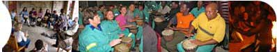 drumming circles, teambuilding sessions, interactive drumming